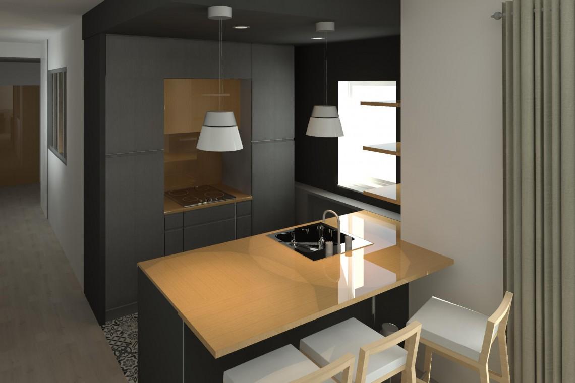 cuisine 2 niche noire