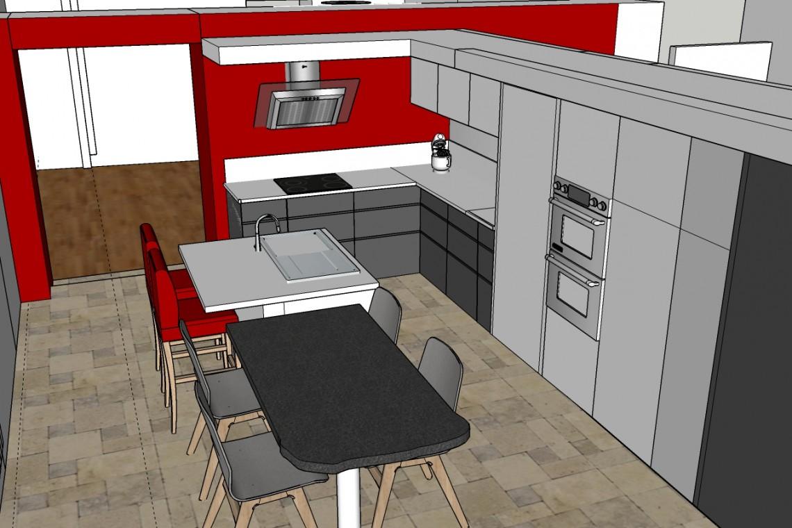 visite virtuelle en 3D de la cuisine