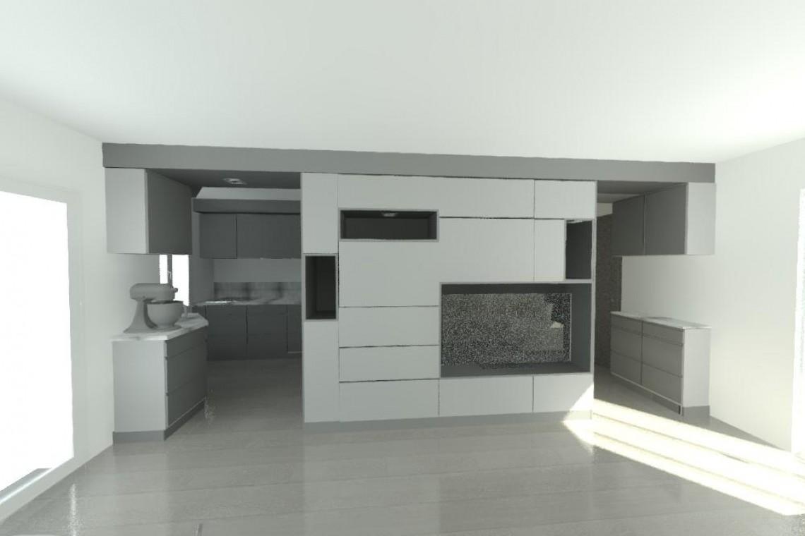 Vue 3D meuble tv d eface